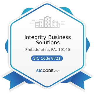Integrity Business Solutions - SIC Code 8721 - Accounting, Auditing, and Bookkeeping Services