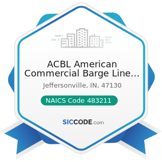 ACBL American Commercial Barge Line Jeffersonville - NAICS Code 483211 - Inland Water Freight...