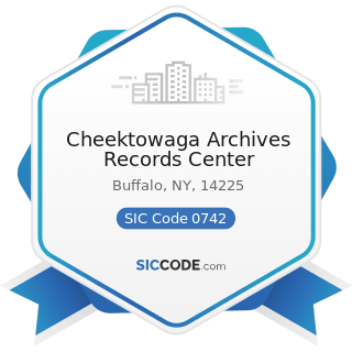 Cheektowaga Archives Records Center - SIC Code 0742 - Veterinary Services for Animal Specialties
