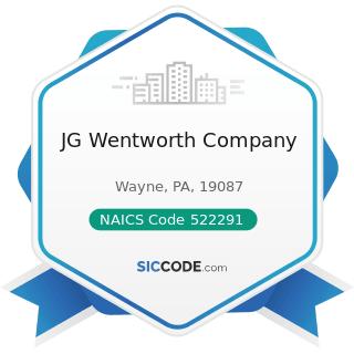 JG Wentworth Company - NAICS Code 522291 - Consumer Lending