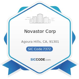 Novastor Corp - SIC Code 7372 - Prepackaged Software