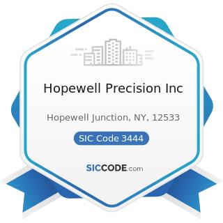Hopewell Precision Inc - SIC Code 3444 - Sheet Metal Work