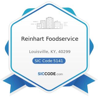 Reinhart Foodservice - SIC Code 5141 - Groceries, General Line
