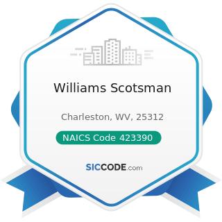 Williams Scotsman - NAICS Code 423390 - Other Construction Material Merchant Wholesalers