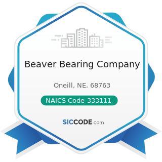 Beaver Bearing Company - NAICS Code 333111 - Farm Machinery and Equipment Manufacturing