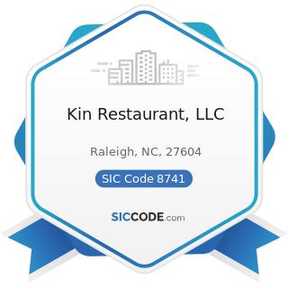 Kin Restaurant, LLC - SIC Code 8741 - Management Services