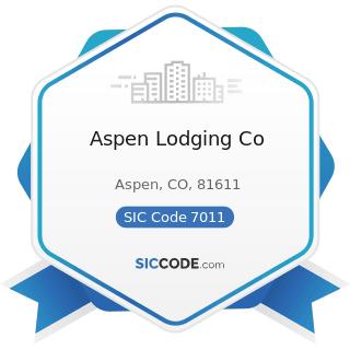 Aspen Lodging Co - SIC Code 7011 - Hotels and Motels