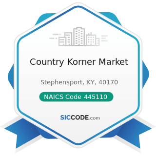 Country Korner Market - NAICS Code 445110 - Supermarkets and Other Grocery (except Convenience)...