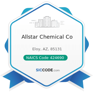 Allstar Chemical Co - NAICS Code 424690 - Other Chemical and Allied Products Merchant Wholesalers