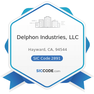 Delphon Industries, LLC - SIC Code 2891 - Adhesives and Sealants