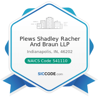 Plews Shadley Racher And Braun LLP - NAICS Code 541110 - Offices of Lawyers