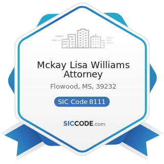 Mckay Lisa Williams Attorney - SIC Code 8111 - Legal Services