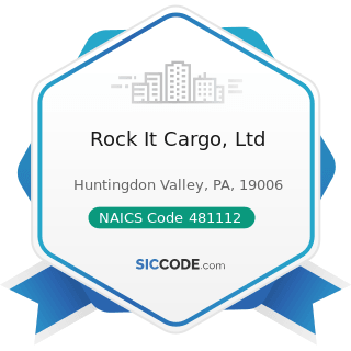 Rock It Cargo, Ltd - NAICS Code 481112 - Scheduled Freight Air Transportation