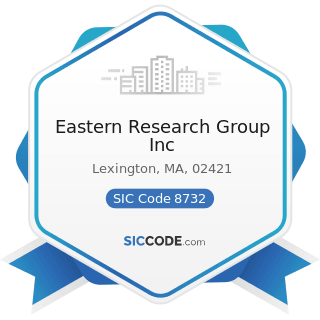Eastern Research Group Inc - SIC Code 8732 - Commercial Economic, Sociological, and Educational...