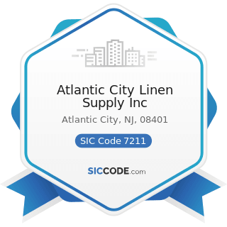 Atlantic City Linen Supply Inc - SIC Code 7211 - Power Laundries, Family and Commercial