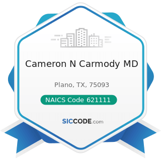 Cameron N Carmody MD - NAICS Code 621111 - Offices of Physicians (except Mental Health...