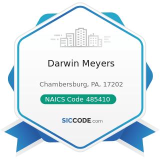Darwin Meyers - NAICS Code 485410 - School and Employee Bus Transportation