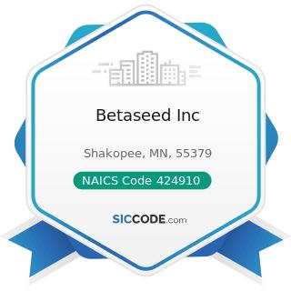 Betaseed Inc - NAICS Code 424910 - Farm Supplies Merchant Wholesalers