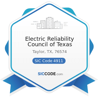 Electric Reliability Council of Texas - SIC Code 4911 - Electric Services