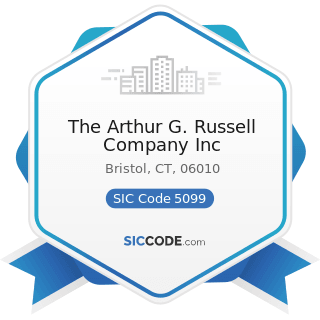 The Arthur G. Russell Company Inc - SIC Code 5099 - Durable Goods, Not Elsewhere Classified