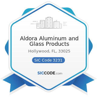 Aldora Aluminum and Glass Products - SIC Code 3231 - Glass Products, Made of Purchased Glass