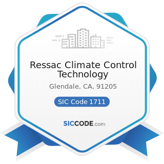 Ressac Climate Control Technology - SIC Code 1711 - Plumbing, Heating and Air-Conditioning