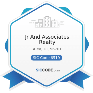 Jr And Associates Realty - SIC Code 6519 - Lessors of Real Property, Not Elsewhere Classified
