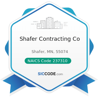 Shafer Contracting Co - NAICS Code 237310 - Highway, Street, and Bridge Construction