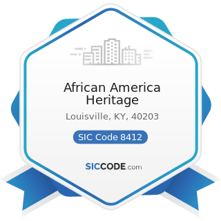 African America Heritage - SIC Code 8412 - Museums and Art Galleries