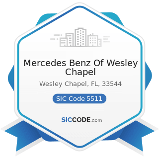 Mercedes Benz Of Wesley Chapel - SIC Code 5511 - Motor Vehicle Dealers (New and Used)