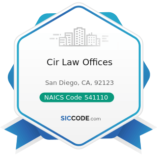 Cir Law Offices - NAICS Code 541110 - Offices of Lawyers