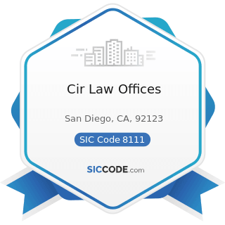 Cir Law Offices - SIC Code 8111 - Legal Services