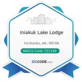 Iniakuk Lake Lodge - NAICS Code 721199 - All Other Traveler Accommodation