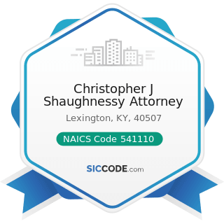 Christopher J Shaughnessy Attorney - NAICS Code 541110 - Offices of Lawyers