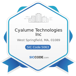 Cyalume Technologies Inc - SIC Code 5063 - Electrical Apparatus and Equipment Wiring Supplies,...