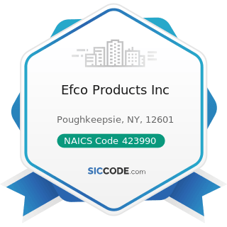 Efco Products Inc - NAICS Code 423990 - Other Miscellaneous Durable Goods Merchant Wholesalers