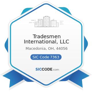 Tradesmen International, LLC - SIC Code 7363 - Help Supply Services