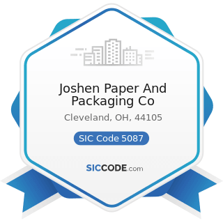Joshen Paper And Packaging Co - SIC Code 5087 - Service Establishment Equipment and Supplies