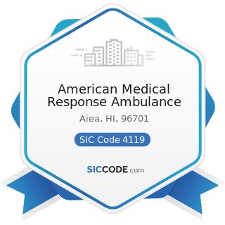 American Medical Response Ambulance - SIC Code 4119 - Local Passenger Transportation, Not...