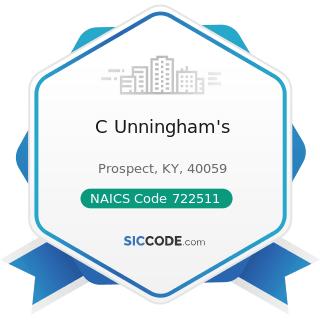 C Unningham's - NAICS Code 722511 - Full-Service Restaurants