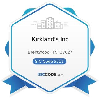 Kirkland's Inc - SIC Code 5712 - Furniture Stores