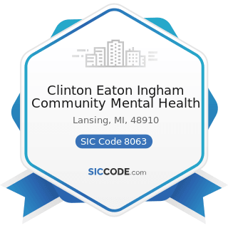 Clinton Eaton Ingham Community Mental Health - SIC Code 8063 - Psychiatric Hospitals