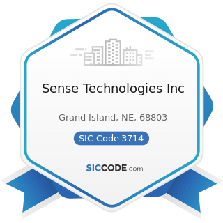 Sense Technologies Inc - SIC Code 3714 - Motor Vehicle Parts and Accessories