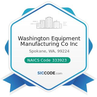 Washington Equipment Manufacturing Co Inc - NAICS Code 333923 - Overhead Traveling Crane, Hoist,...