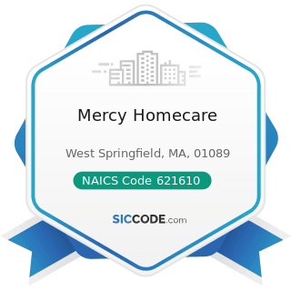 Mercy Homecare - NAICS Code 621610 - Home Health Care Services