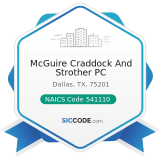 McGuire Craddock And Strother PC - NAICS Code 541110 - Offices of Lawyers