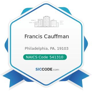 Francis Cauffman - NAICS Code 541310 - Architectural Services