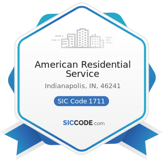 American Residential Service - SIC Code 1711 - Plumbing, Heating and Air-Conditioning