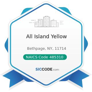 All Island Yellow - NAICS Code 485310 - Taxi Service