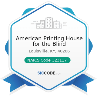 American Printing House for the Blind - NAICS Code 323117 - Books Printing